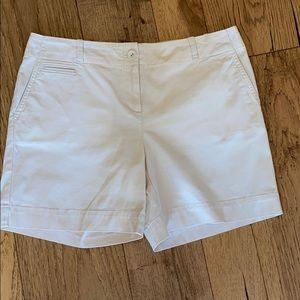 Talbots cream colored shorts. Size 10 Petite